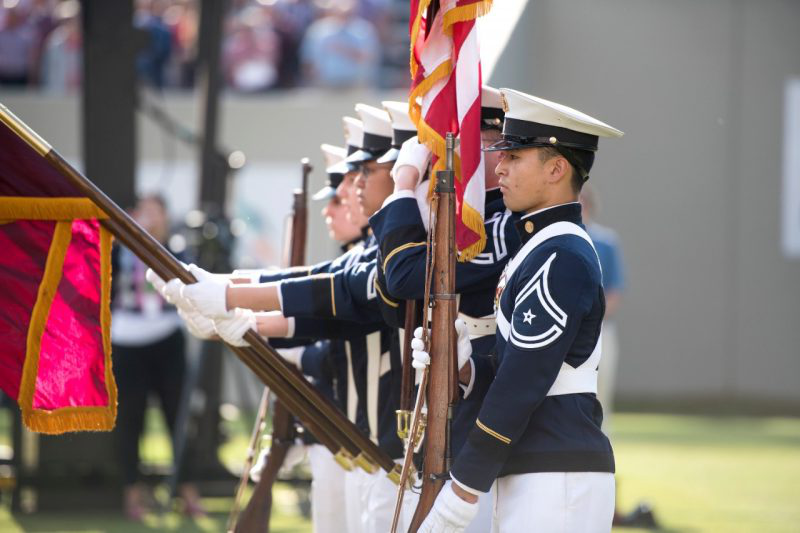 Members of the Corps of Cadet Honor Guard
