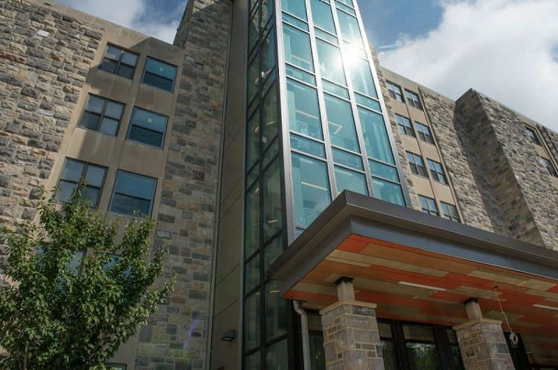 O'Shaughnessy Hall underwent a renovation that was completed before the start of the 2018 academic year.